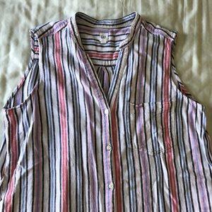 GAP striped linen blend dress